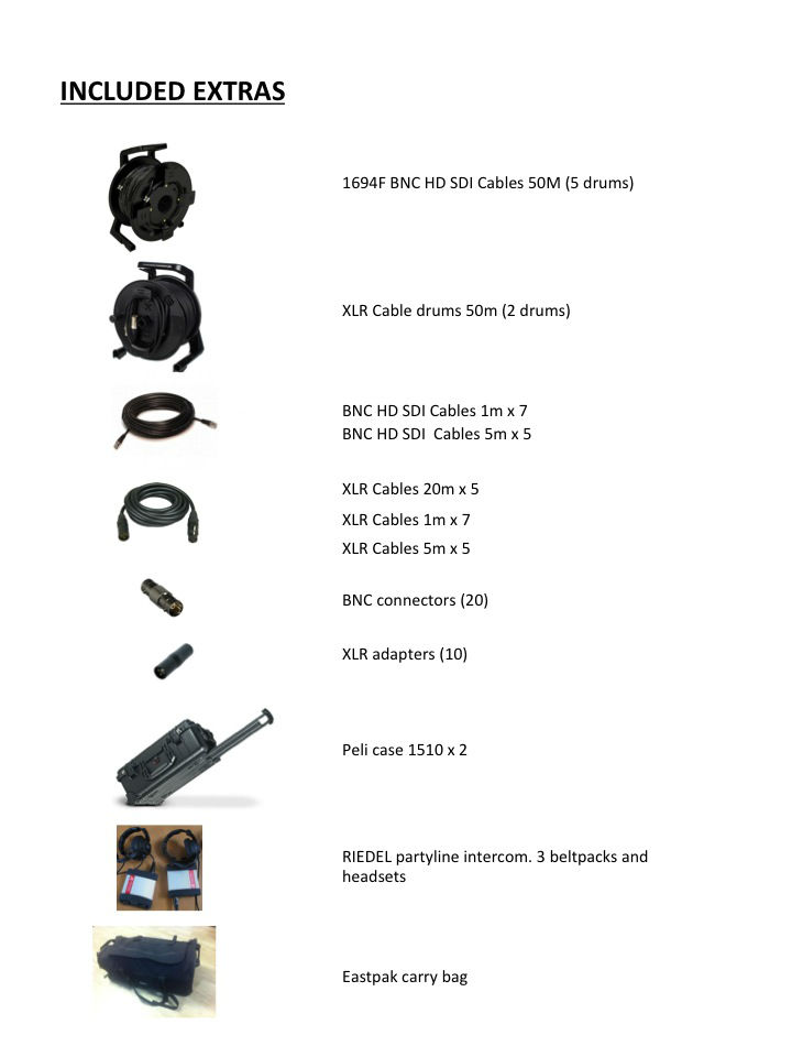 Slide3 - cables and extras
